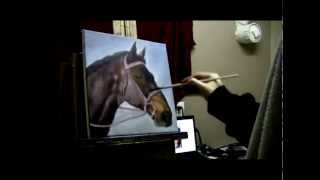 How to Paint a Horse Portrait - Acrylic Painting Lesson