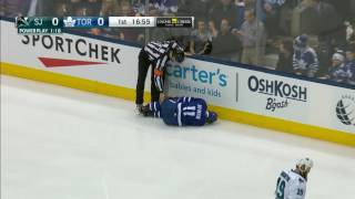 Gotta See It: Hyman drops after taking missile from Burns