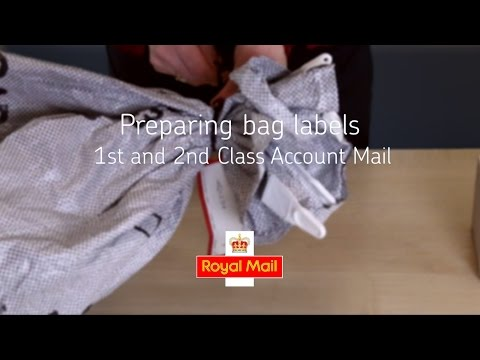 Help and support - Preparing bag labels for 1st and 2nd Class Account Mail