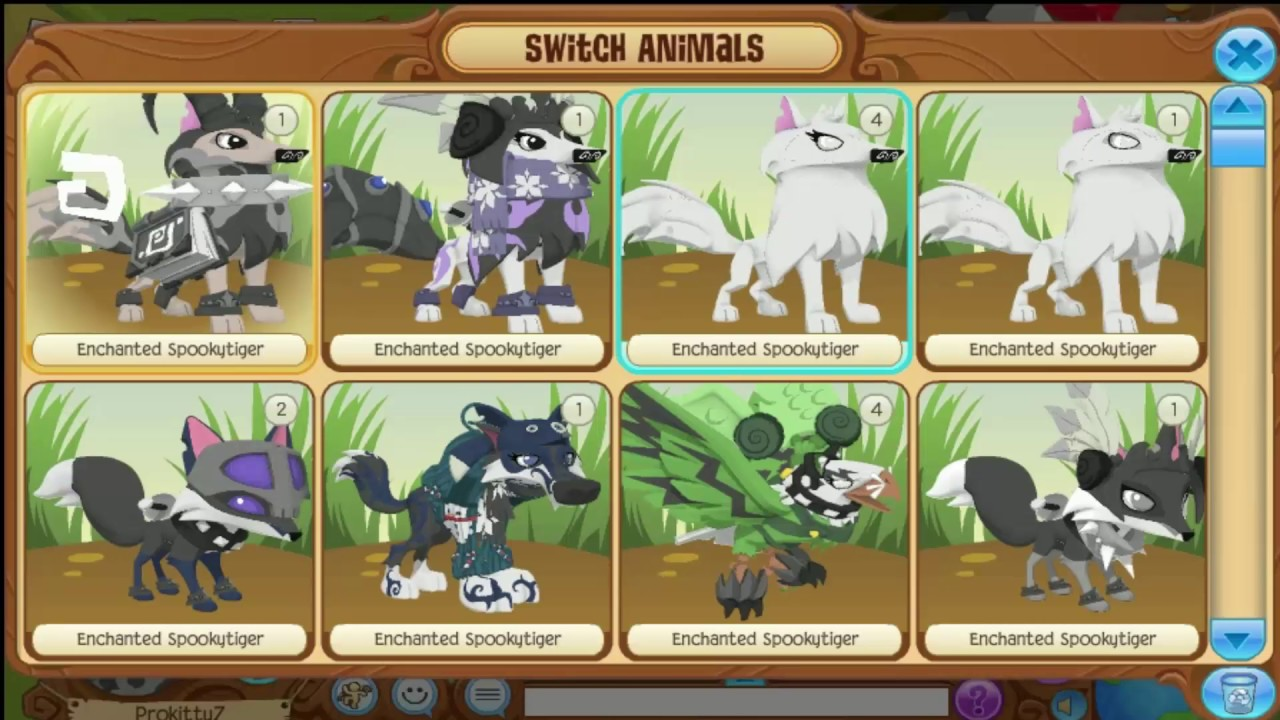 ANIMAL JAM 4 CUTE LOOKS WITH AN ARCTIC WOLF PART 2 - YouTube