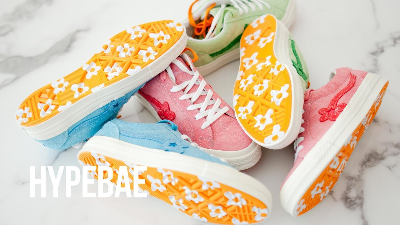 4561383a2b74 Tyler The Creator s GOLF Le FLEUR  Converse One Star Unboxing - YouTube