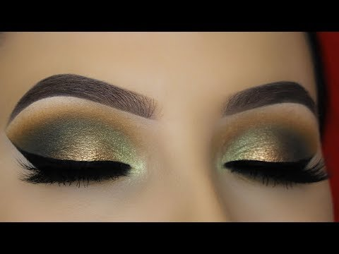 Smokey Golden Olive Eye Makeup Tutorial