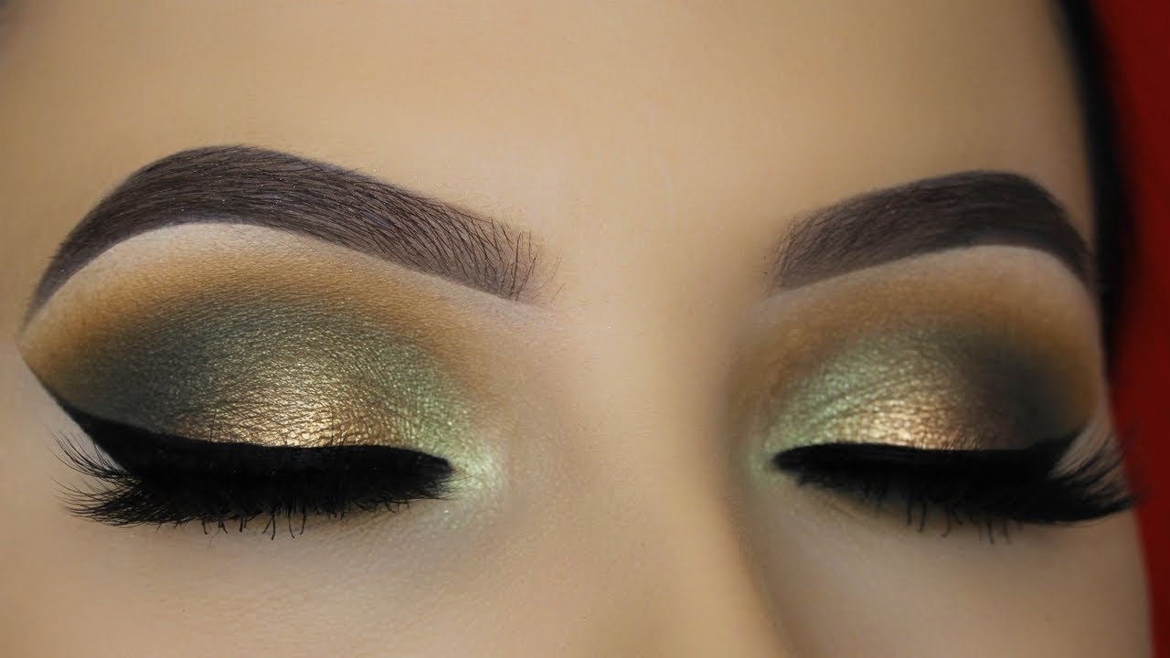 Smokey Golden Olive Eye Makeup Tutorial - Abh Subculture -1556