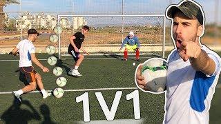 מי שמנצח אותי באחד על אחד בכדורגל - שובר עלי ארגז ביצים!!!