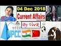4 December 2018 Current Affairs in Hindi | Daily Current Affairs Detail Study, PIB, Nano Magazine