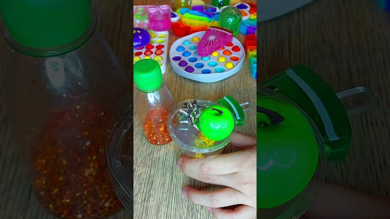 Glitter Slime Making part 2 - Most Satisfying Slime Videos diy #shorts