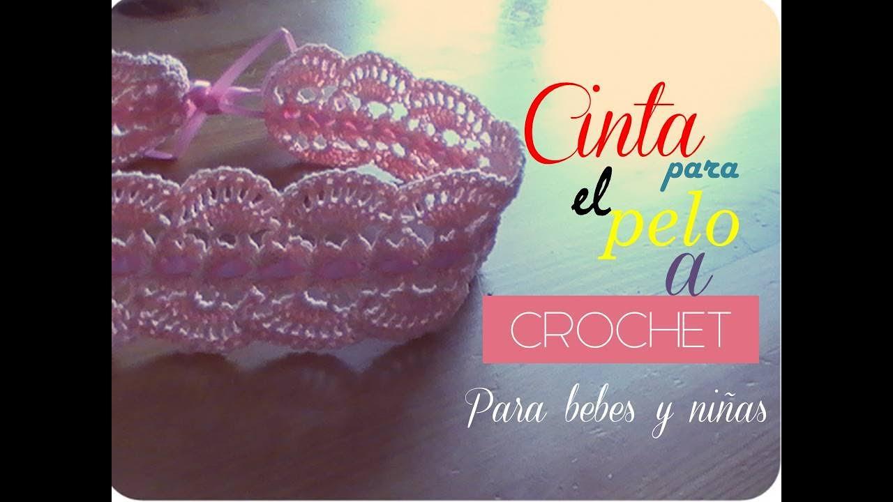 Cinta para el pelo a crochet para bebes (diestro) - YouTube