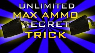 black ops 2 zombies unlimited max ammo secret trick