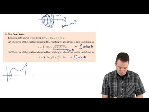 Math152: Section 4.2 - Area of a Surface of Revolution (1 of 4)