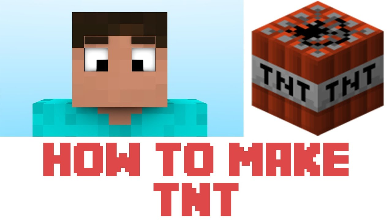 Minecraft - How To Make TNT In Minecraft - YouTube