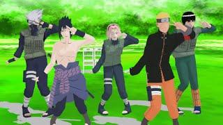 Caramelldansen (MMD) Naruto   Team 7 y Gai sensei