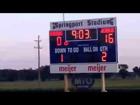 Springport High School JV Football vs Vandercook Lake : 8/23/12
