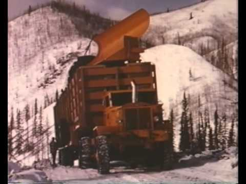 Arctic Convoy With Giant Mack Trucks