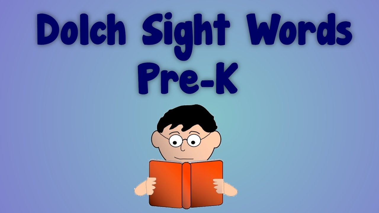 Dolch Sight Words Pre-K | English Learners | Pre-K Students | Engaging  Video with Music