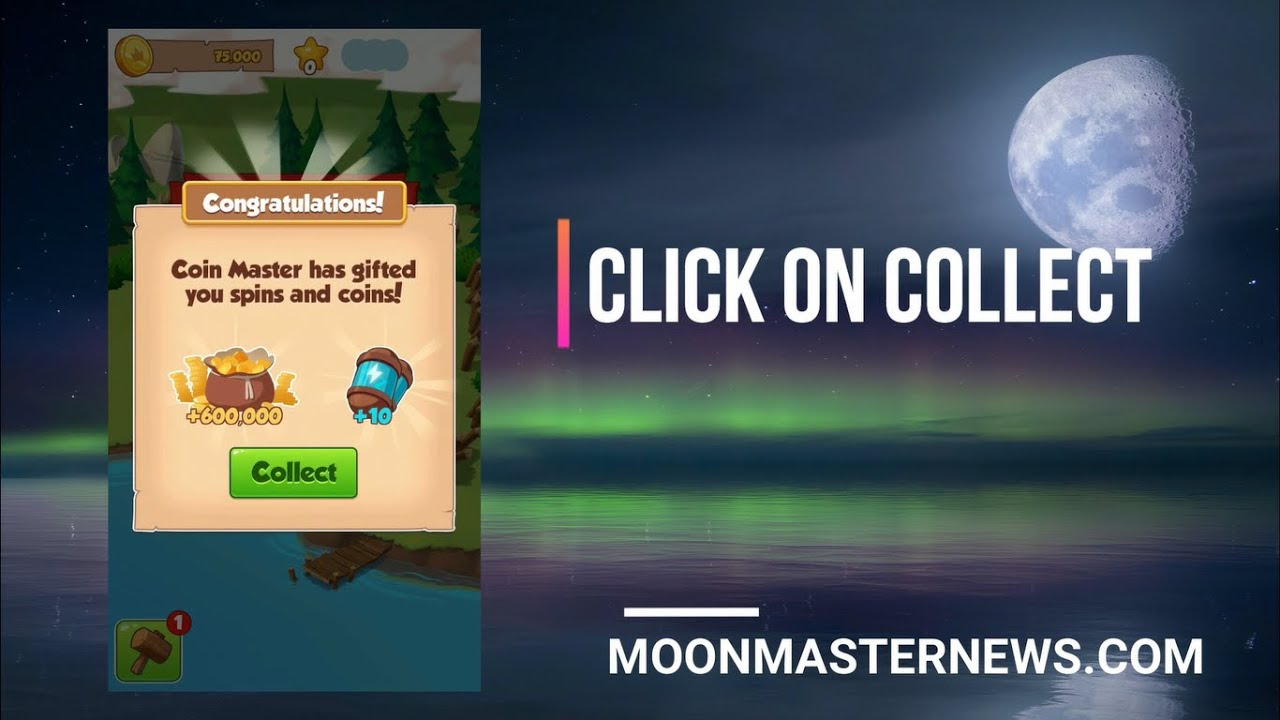 Free spin and coin for coin master spins
