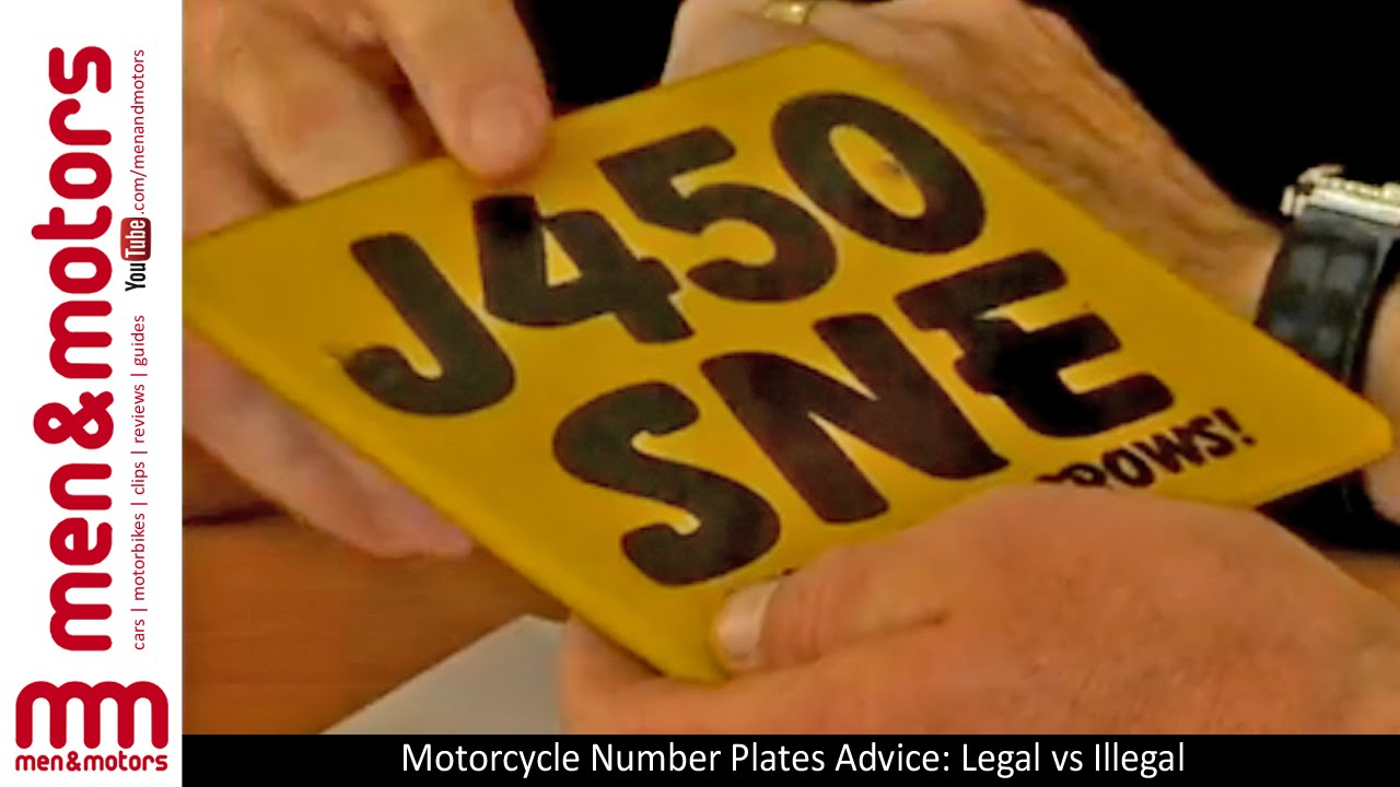 Motorcycle Number Plates Advice: Legal vs Illegal - YouTube