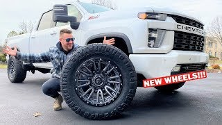 "STUFFING HUGE 36"" Tires on My 100% STOCK 2020 Duramax!!! WILL THEY FIT???"