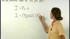 Simple Interest Formula - MathHelp.com - Math Help
