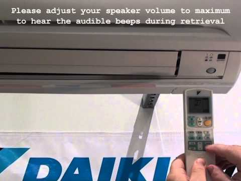 Daikin RA Split System Fault Code Retrieval