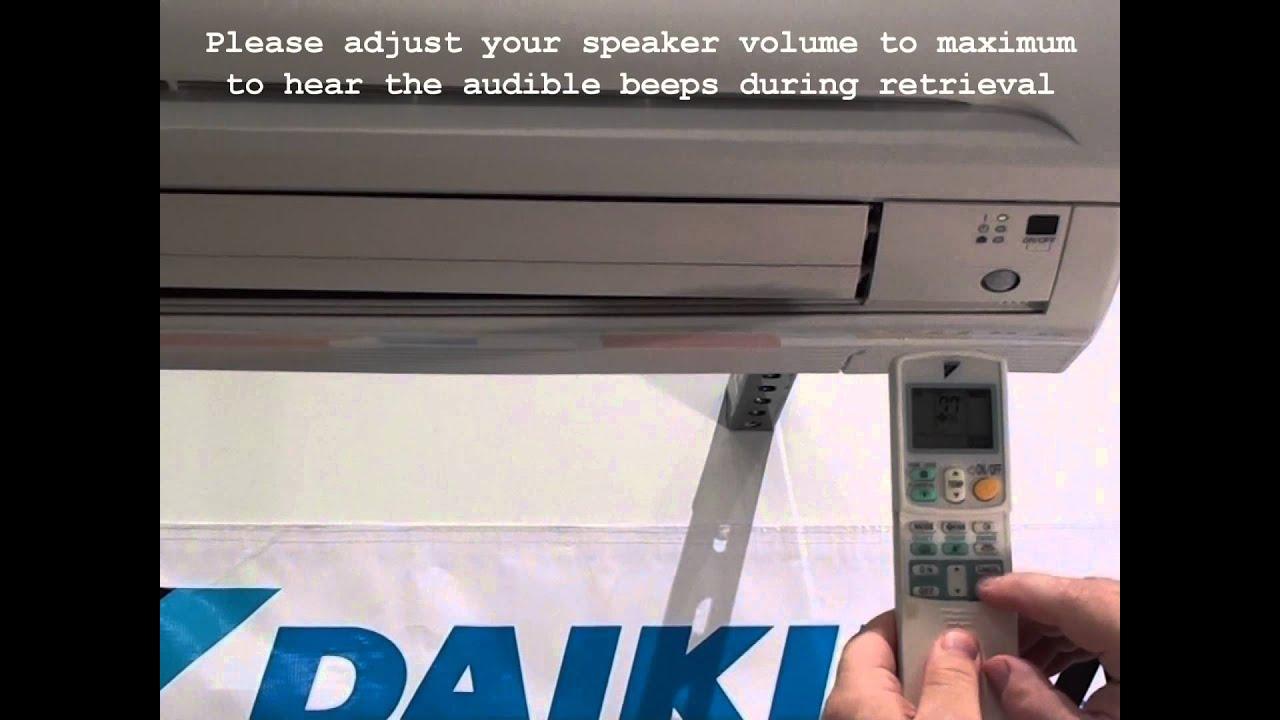 Daikin RA Split System Fault Code Retrieval