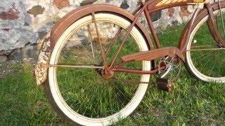 Vintage 1951 Schwinn DX Tank Bicycle Balloon Tire Fat