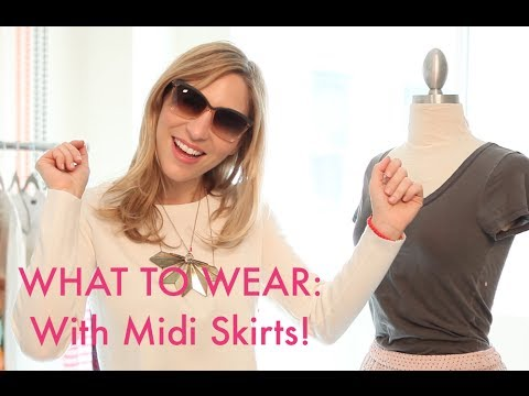 What To Wear With Midi Skirts How To Wear Them