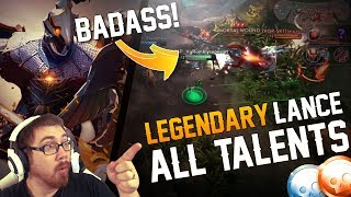 Vainglory Skins Gameplay - [L] LANCE SKIN + ALL TALENTS Gameplay!