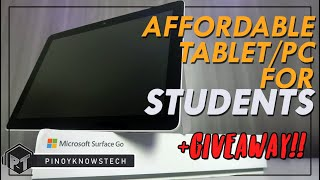 AFFORDABLE Tablet/PC for Students Microsoft Surface Go Review + GIVEAWAY!!!