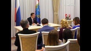 Губернатор Самарской области Дмитрий Азаров дал большую пресс-конференцию