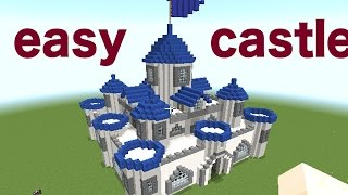 MINECRAFT : HOW TO BUILD A CASTLE part 1/2  [minecraft easy castle tutorial]
