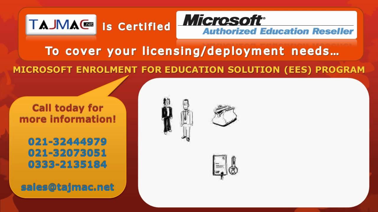Microsoft Enrolment For Education Solution (EES) Program - TAJMAC IT  Solutions
