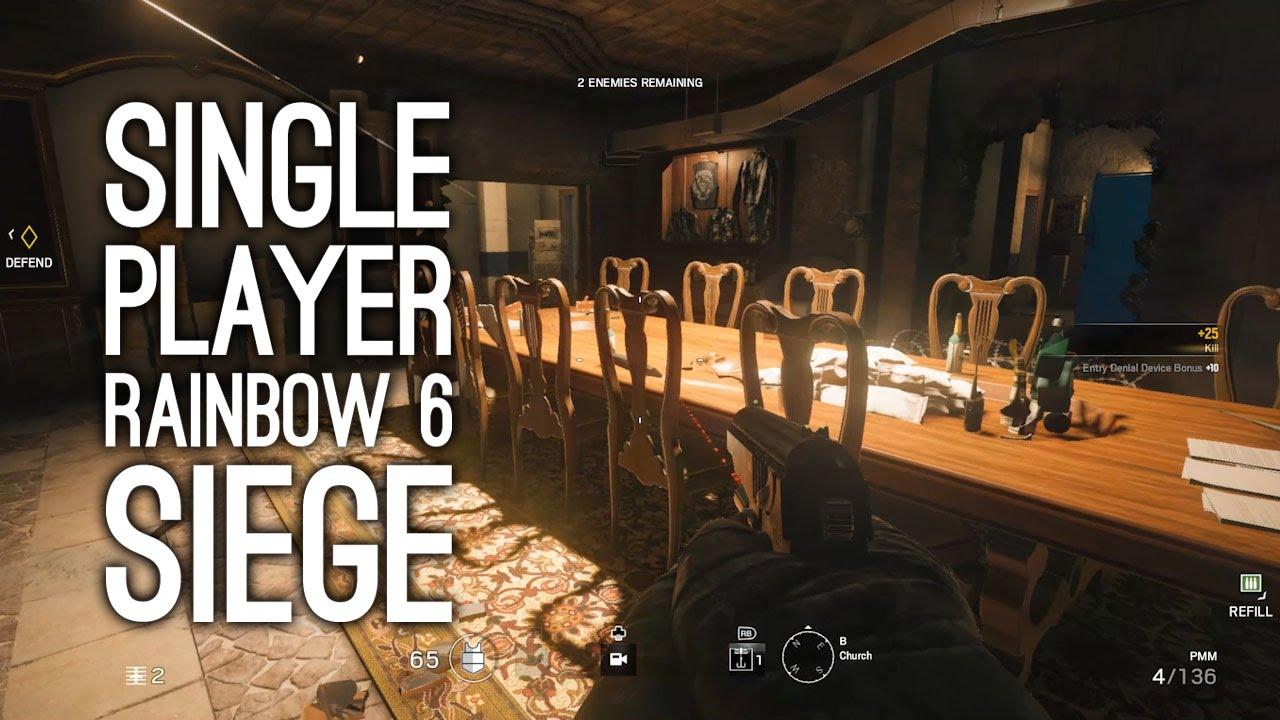 rainbow six siege gameplay single player