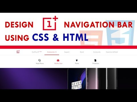 OnePlus Navigation Bar Design Using CSS And HTML Only