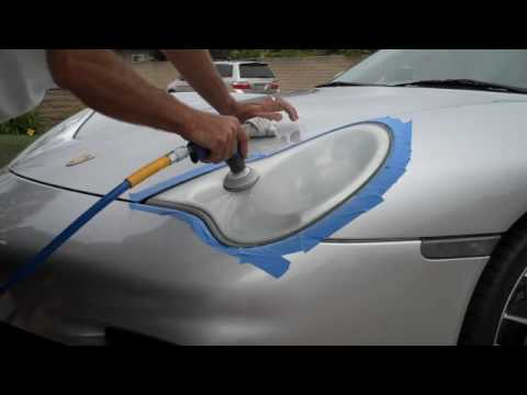 Headlight Lens Restoration 2003 Porsche C