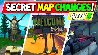 "*NEW* FORTNITE SECRET MAP CHANGES WEEK 5 ""Pandora"" + ""Visitor Intentions"" + ""Cube Returning!"" v10.20"