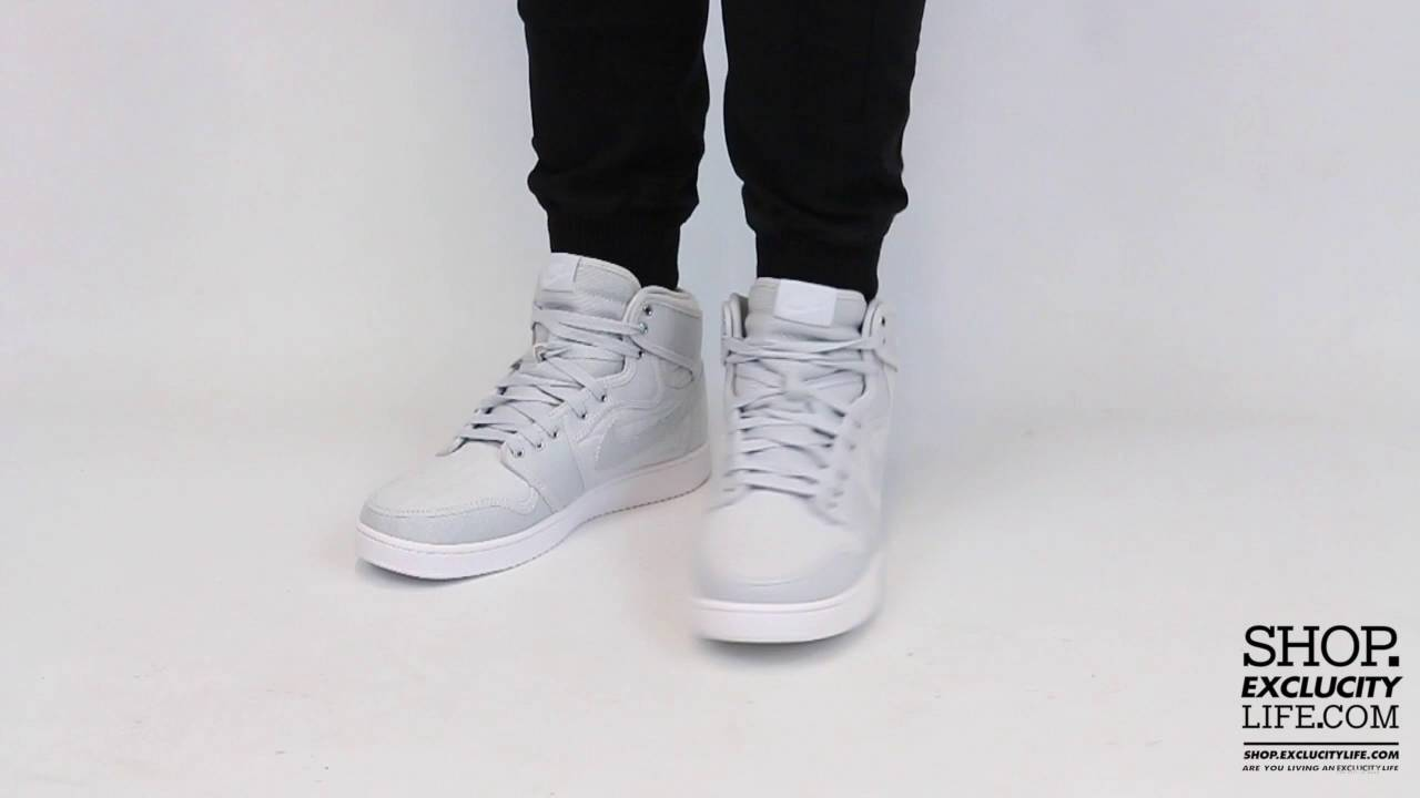 finest selection 0a563 30e17 Air Jordan 1 AJKO Pure Platinum On feet Video at Exclucity