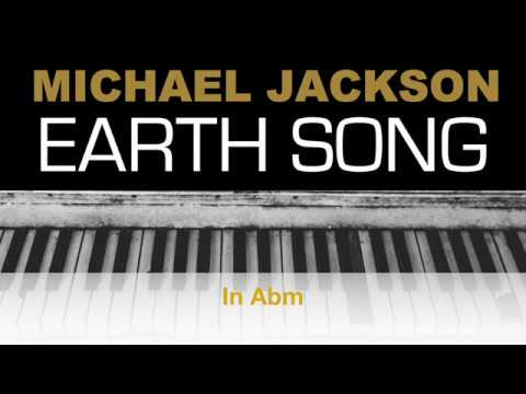 Michael Jackson - Earth Song Karaoke Chords Instrumental Acoustic Piano Cover Lyrics