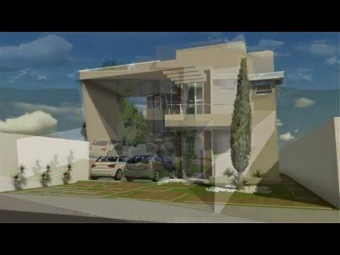 Sobrado testada 5m by vagner silva doovi for Casa moderna minimalista interior 6m x 12 50m