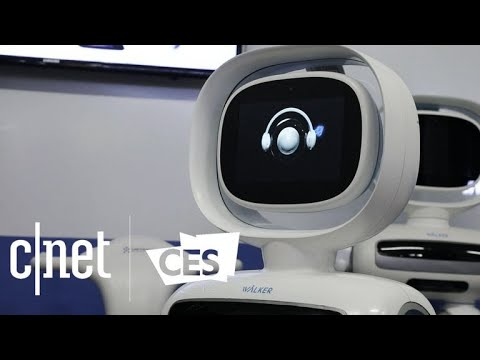 Ubtech Walker bipedal robot struts down stairs at CES 2018