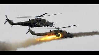 impresionante ataque de helicpteros rusos mi 24 contra posiciones del isis hama siria