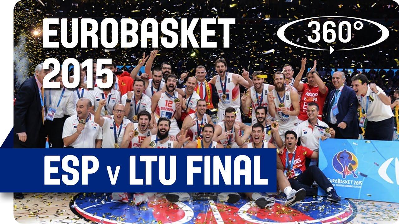 Experience EuroBasket 2015 Final (ESP v LTU) in Incredible 360° / 4k!