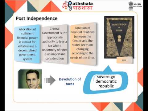 Fiscal federalism in India (ECO)