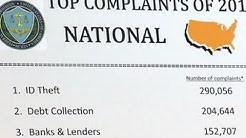 ID theft and debt collection top consumer complaints