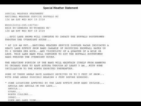 NWS Buffalo NY Lake Effect Snow Warning YouTube - Nws buffalo radar