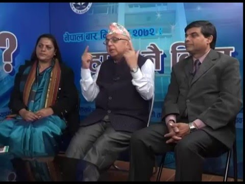 Hami Nai Kina ? Tv Show, Nepal Bar Election 2072, Broader Democratic Lawyers Pannel 2nd episode