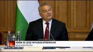 Idén is lesz nyugdíjprémium hangsúlyozta Orbán Viktor