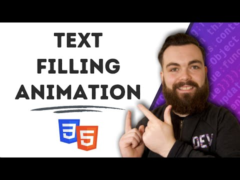 Text Filling CSS Animation | HTML CSS
