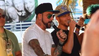 bsb cruise 2014 don t forget the lyrics the boys singing let it go