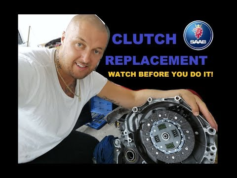 SAAB 9-3 CLUTCH REPLACEMENT! MOST EDUCATIONAL!