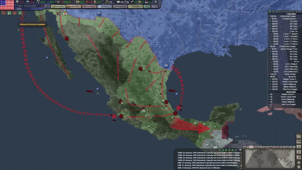 HoI TFH EN US Empire P Barbarossa YouTube - Us empire map pacific